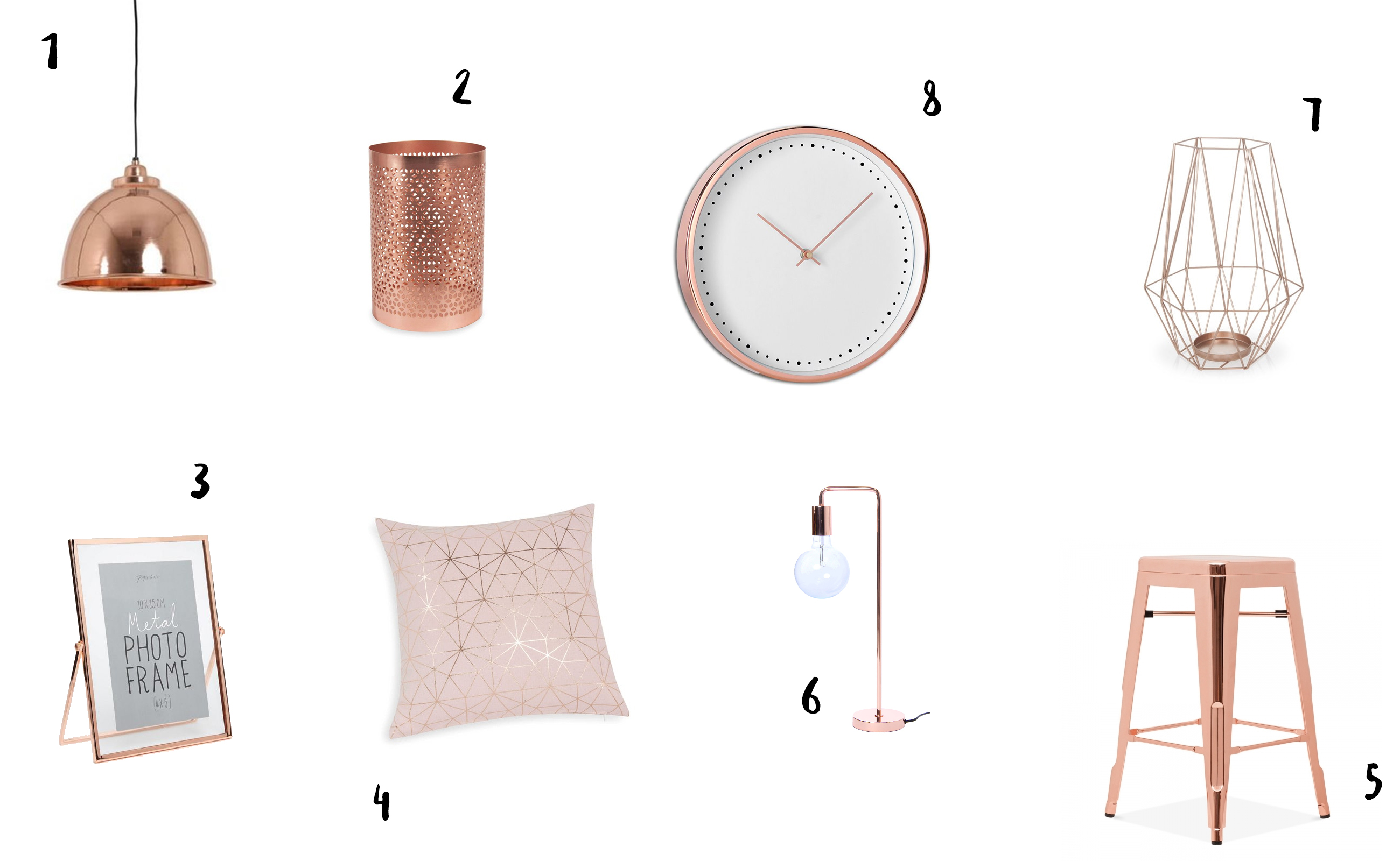 Une d co 100 rose gold douce pagaille for Objet deco rose