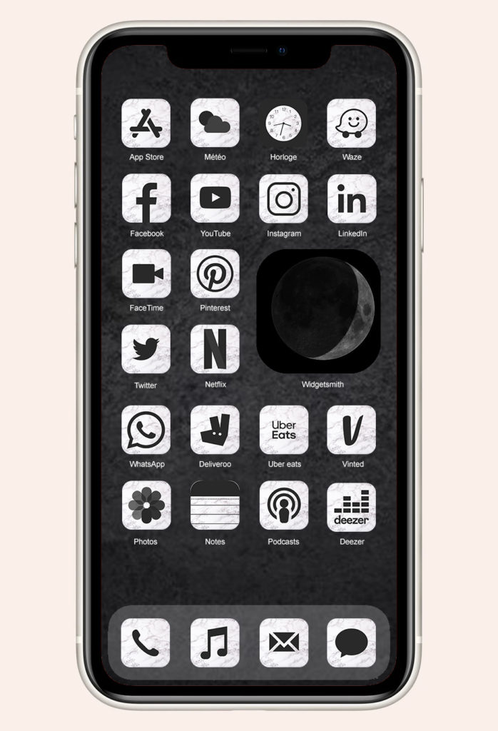 Douce Pagaille Icon Set Free iPhone iOS14 Apps Applications aesthetic