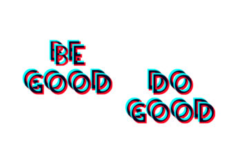 be good do good wallpaper iphone overprint font surimpression typographie